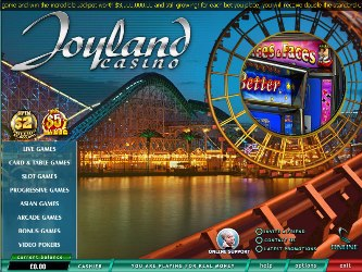 Lobby do Joyland Casino