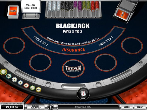 Blackjack no Titan Casino