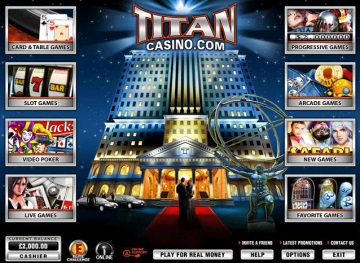 Lobby do Titan Casino