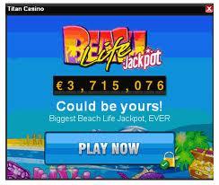 O Jackpot do Beach Life está a atingir a marca de 8 milhões de dólares