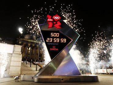 Relógio dos Jogos Olímpicos de 2012 pára
